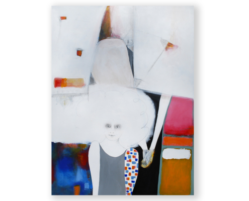 Sylvain Leblanc, artiste peintre figuratif abstrait. Canton-de-l'Est, Québec, Canada. Titre : Pour ne pas me perdre parmi les gens