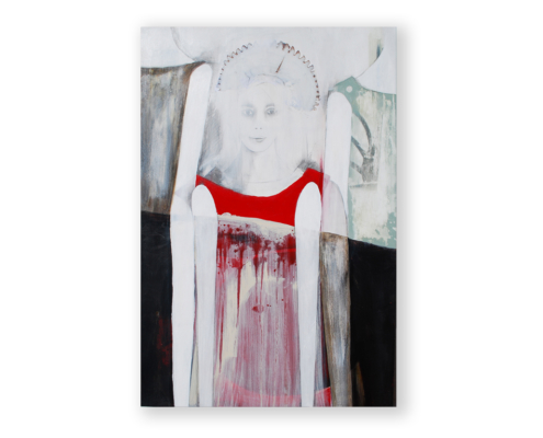Sylvain Leblanc, artiste peintre figuratif abstrait. Canton-de-l'Est, Québec, Canada. Titre : À la merci de mes sentiments