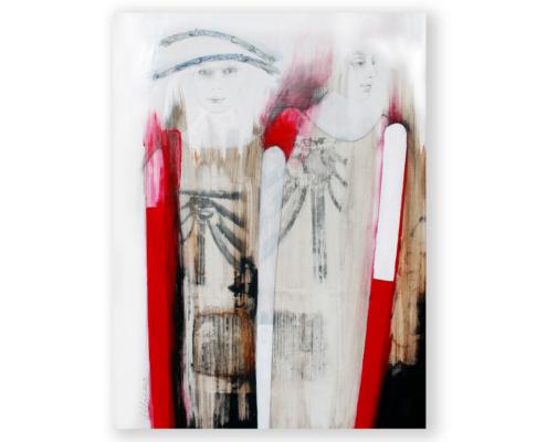 Sylvain Leblanc, artiste peintre figuratif abstrait. Canton-de-l'Est, Québec, Canada. Titre : À la proximité de l'indifférence