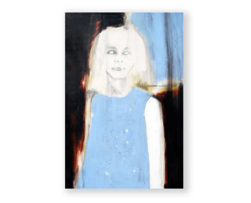 Sylvain Leblanc, artiste peintre figuratif abstrait. Canton-de-l'Est, Québec, Canada. Titre : Jamais trop loin