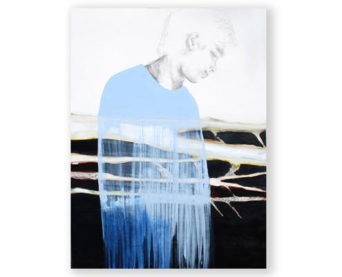 Sylvain Leblanc, artiste peintre figuratif abstrait. Canton-de-l'Est, Québec, Canada. Titre : La dérive des racines