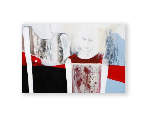 Sylvain Leblanc, artiste peintre figuratif abstrait. Canton-de-l'Est, Québec, Canada. Titre : Le verdict de la différence