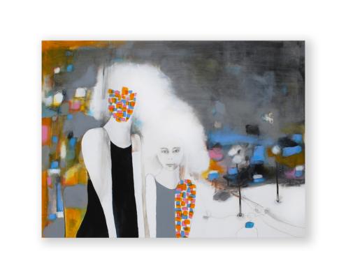Sylvain Leblanc, artiste peintre figuratif abstrait. Canton-de-l'Est, Québec, Canada. Titre : Les brisures ne sont pas toutes faites de chocolat