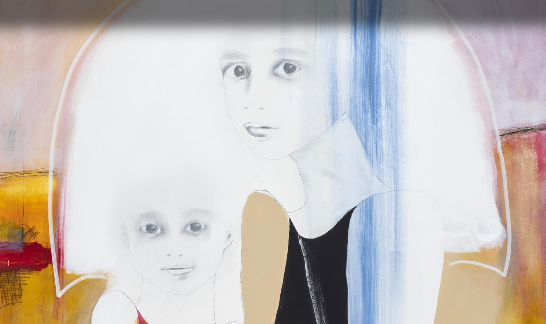 Sylvain Leblanc artiste peintre contemporain, style figuratif abstrait. Canton-de-l'Est, Québec, Canada. Titre :