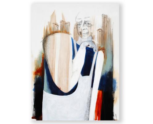 Sylvain Leblanc, artiste peintre figuratif abstrait. Canton-de-l'Est, Québec, Canada. Titre : Ce périlleux métier d'humain
