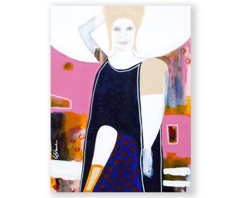 Sylvain Leblanc, artiste peintre figuratif abstrait. Canton-de-l'Est, Québec, Canada. Titre : Du haut de ma somptueuse condescendance