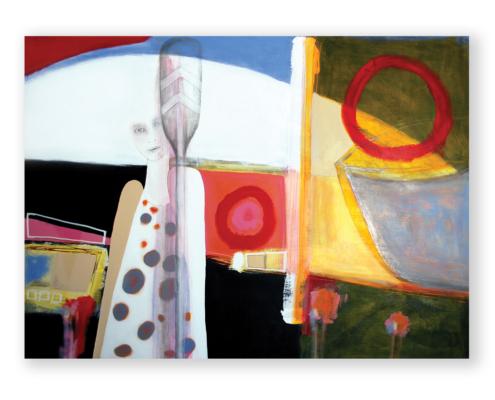 Sylvain Leblanc, artiste peintre figuratif abstrait. Canton-de-l'Est, Québec, Canada. Titre : J'ai pris le large pour ne pas couler