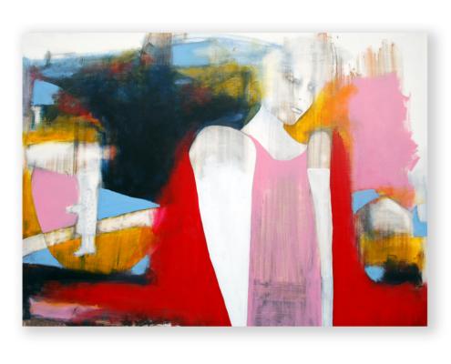 Sylvain Leblanc, artiste peintre figuratif abstrait. Canton-de-l'Est, Québec, Canada. Titre : Je t'aime vraiment beaucoup