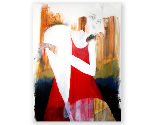 Sylvain Leblanc, artiste peintre figuratif abstrait. Canton-de-l'Est, Québec, Canada. Titre : Peace and Life