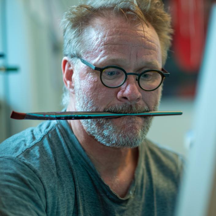 Sylvain Leblanc, artiste peintre figuratif abstrait. Canton-de-l'Est, Québec, Canada